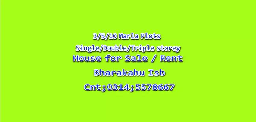 House/Plots for sale Bharakahu Isb 0