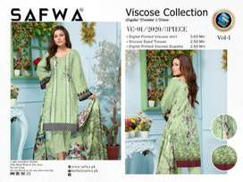 DVC -SAFWA VISCOSE 3 PIECE DRESS COLLECTION-DIGITAL PRINTED