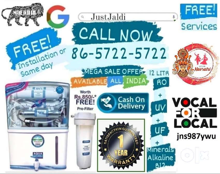 jns987ywu RO water filter DTH water purifier tv water tank  FREE DELIV