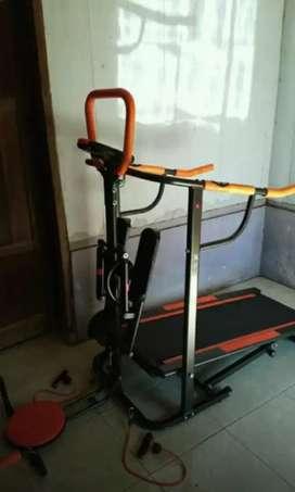 8 fungsi treadmill manual non listrik trendsporty