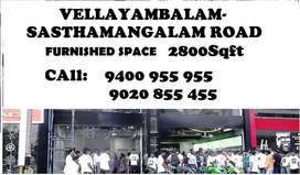 Furnished Space Vellayamabalam 2800 Sqft | 1.10 Lacs