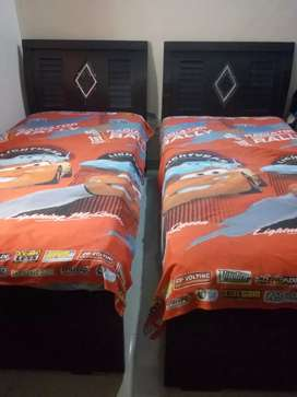 Two single bed with master mattress