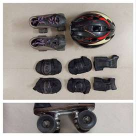roller skates and soccer shoes for 6-7 years, 9 years , 5 years