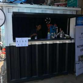 paket franchise es kopi container booth cicilan 6bln.cuma hari ini