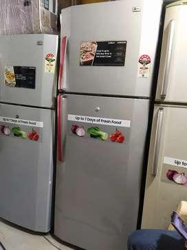 With 5 year warranty LG 280 liter door fridge