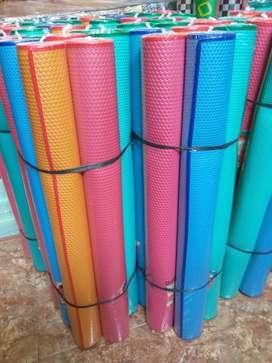 Tikar Karpet Lantai Gulung Lipat Spon Plastik Polos Plastik, Bisa COD