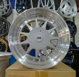 Velg Mobil Honda Brio, Vios, Corolla, Yaris - HSR IKIMASU R15 silver