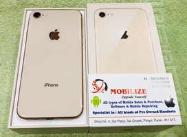 iPhone 8 Gold 64GB Only 8 Days Used In Brand New Condition.