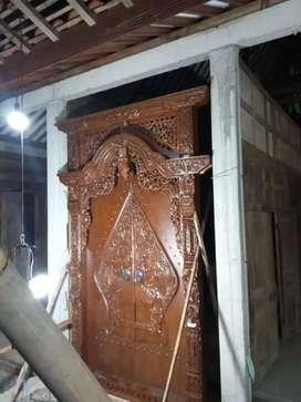 Pintu kusen Gebyok kayu Jati Dakana