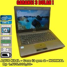 Laptop Bekas ASUS K48L - Core i3 gen 2 - Normal - Siap Pakai