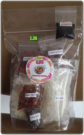 Paket Peach Gum Herbal 200 gr Super Komplit  Kualitas Super 11 Macam