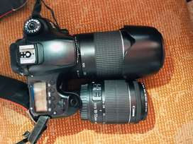 Canon D60 with len 75-300 and 18-55