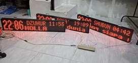 Jam digital sholat musholah dan masjid 1mx 20 cm
