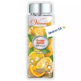 Vienna fruit juice mask orange squeeze 1 sheet / masker wajah jeruk