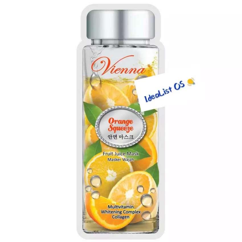 Vienna fruit juice mask orange squeeze 1 sheet / masker wajah jeruk 0