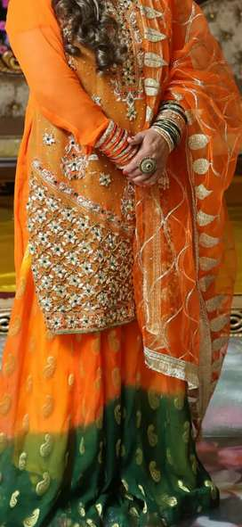 Mehndi dress new condition 1 time wear...