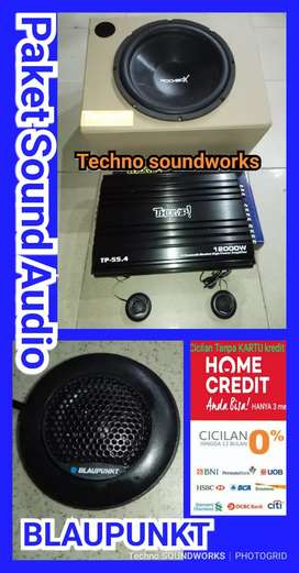 Paket sound audio Blaupunkt Full set harga grosir for tv mobil