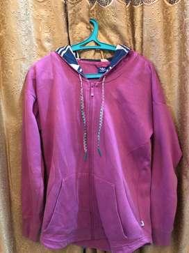 Jaket Adidas threefoil Pink Original