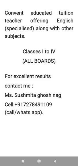 Convent educated Private tutor in Shibrampur,Behala