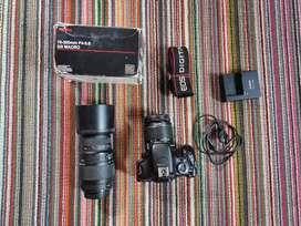 Canon 600d lens 18 55 dan lensa tele 70 300