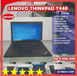 COD BISA, PROMO LENOVO THINKPAD CORE i5 T440 RAM 4 GB SECOND MURAH BER