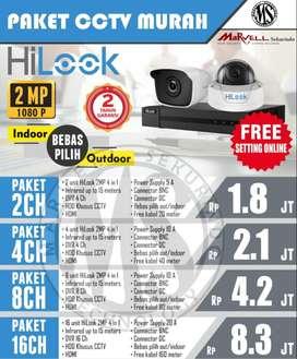 PAKET CCTV HILOOK 2 MP JERNIH TERMURAH