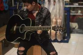 Gitar akustik coleclark black glossy