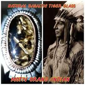 akik bulu macan Motiv indian