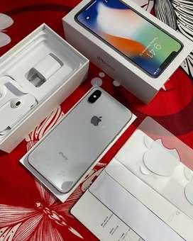 IPhone X 64Gb Silver Fullset Muluss Terawat