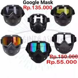 TaffSPORT BOLLFO Kacamata Goggles Mask Motor Retro Anti Glare
