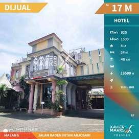 MURAH MERIAH ! Dijual Hotel 4 Lantai di Jl Raden Intan ArjosarI Malang