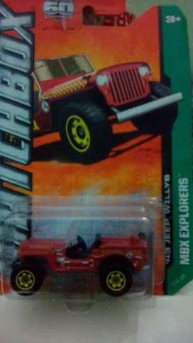 Diecast Matchbox jeep wilys red(80)