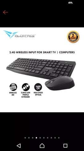 Alcatroz Wireless Combo Keyboard Mouse Xplorer Air 6600 [ PC/ Laptop/