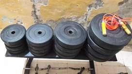 Gym Itam total 80 kg set rs 7500
