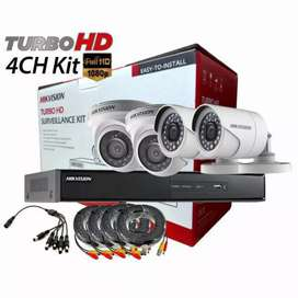 Menerima paket camera cctv Hikvision HD full