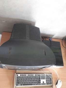 Black colour pc computer  2 GB,250 GB