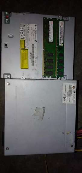 Lg DVD Rider 2+ 2gb dd2 ram and  frontech power supply