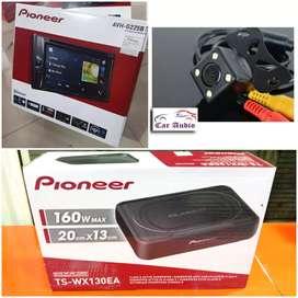 DobelDin Pioneer AVH-G225BT&KAMERA MUNDUR & Sub Bass Pioneer 8 inch