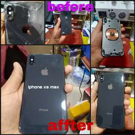 Offer Iphone xs max back glass replacement only Rs.2500