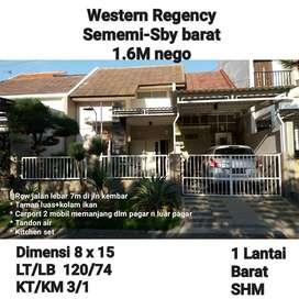 dijual rumah murah di daerah western regency sememi surabaya barat