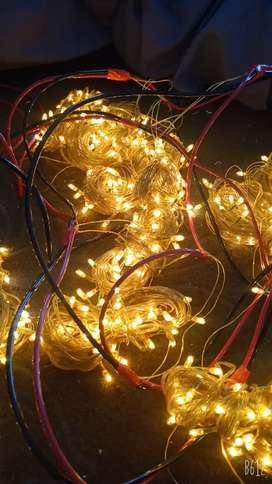 Fairy Lights Available for Rent golden blue and multi colors