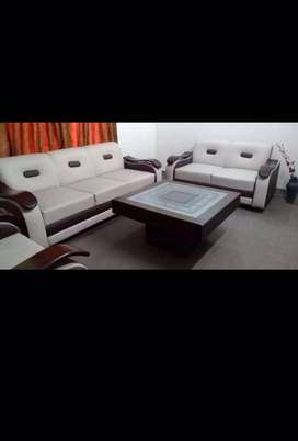 six seater sofa set with center table