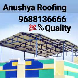Anusuya Roofing neat and clean work fabrication in truss works