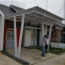 Canopy atap spandek rangka hollow galvanis54