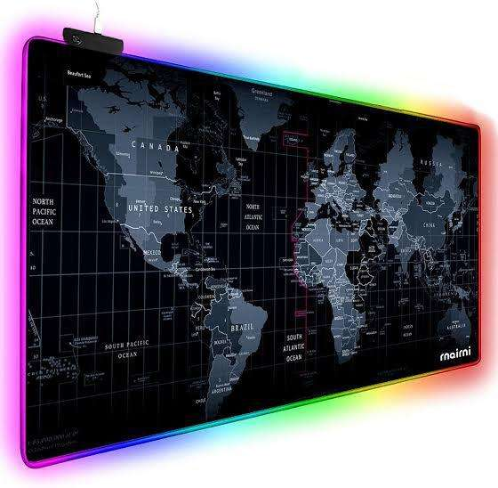 RGB Magic USB Wired Mouse Pad LED Map