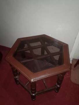 2 small tables made of wood(shisham).Each table price 5000 &both 9500