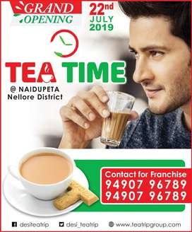 Tea Time Offering to start Own Business franchise in Nellore