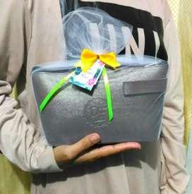 SALE !! Souvenir Nikah POUCH Kosmetik Leather Murah Keren Wedding Gift
