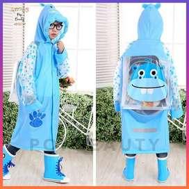 Jas Hujan Anak dengan Ruang Ransel - Children's Raincoat