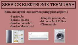 Service Ac Mesin cuci AC Kulkas Frezerbox - Kompor tanam - Pompa air